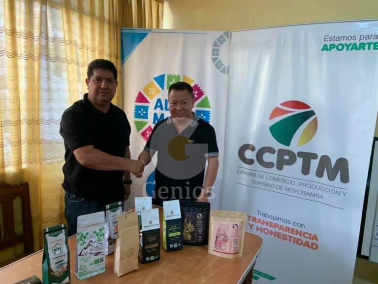 Mario Pinedo y Representante de Empresarios Chinos